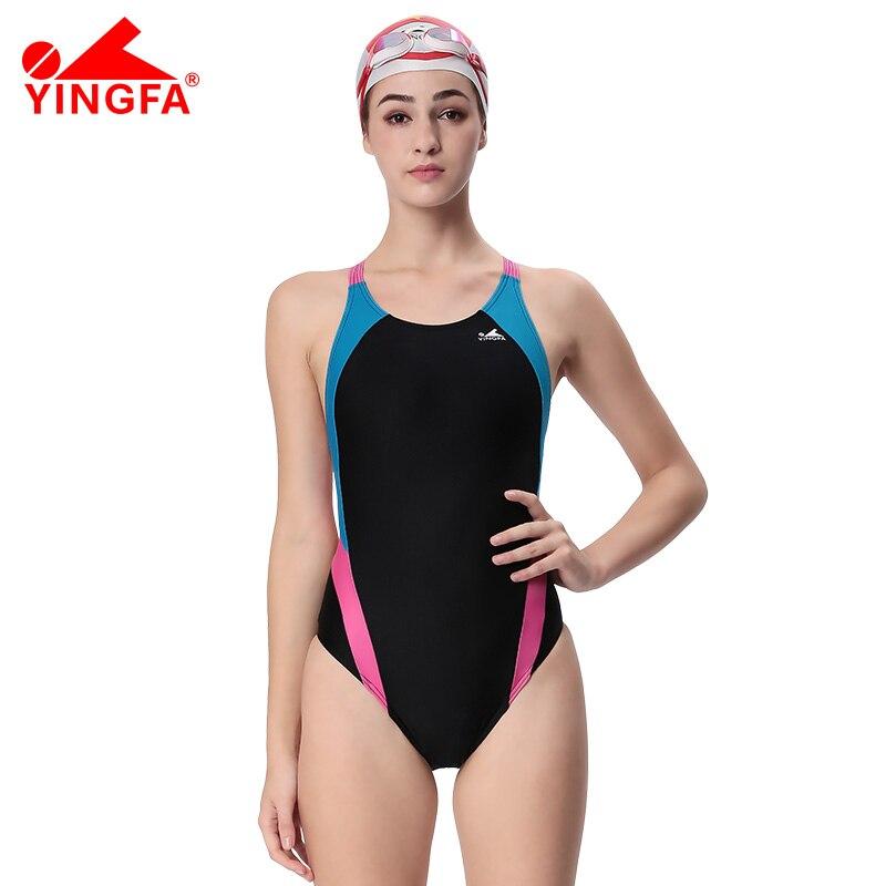 Yingfa 전문 수영복 여자 수영복 스포츠 레이싱 경쟁 섹시한 레오타드 꽉 레이디 보디 빌딩 수영복 XS-XXXL