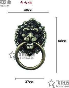 Us 1988 A2 Zinc Alloy 67mm40mm Antique High Grade Drawing Lion Head Handle Cabinet Door Hardware Handle In Door Handles From Home Improvement On