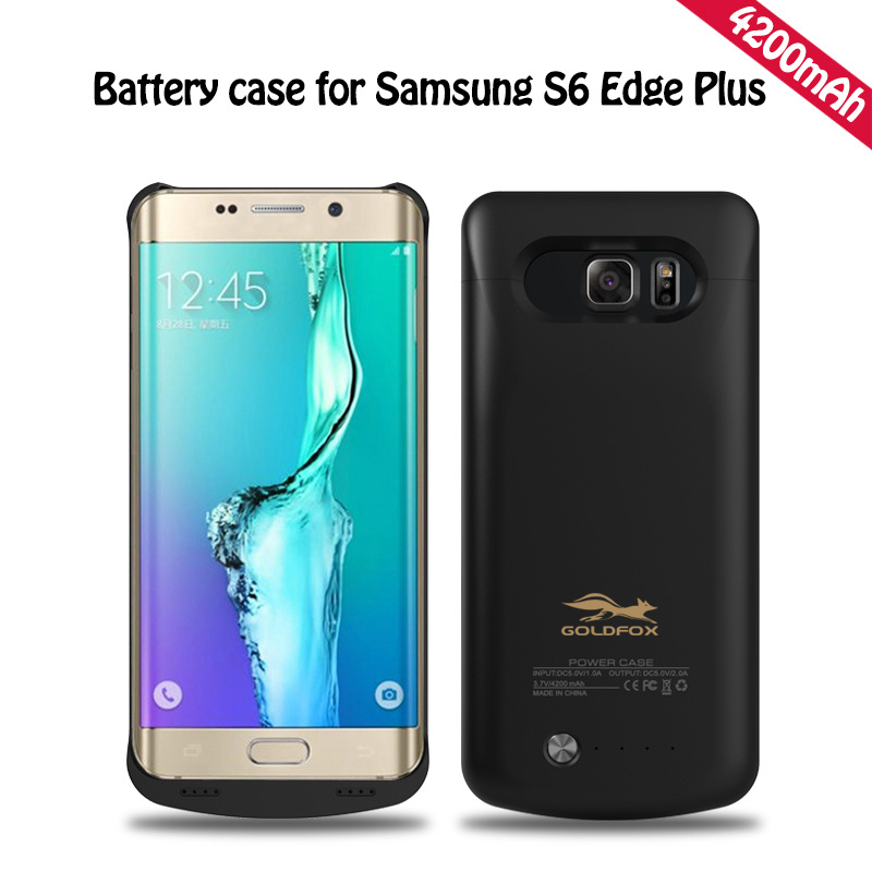 1b834f2730 GOLDFOX 4200 mAh 5.7 'Phone Battery Charger Case For Samsung Galaxy S6 Edge  Plus