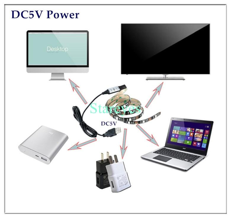 HTB1uMUfacj B1NjSZFHq6yDWpXar SMD 5050 RGB LED Strip DC 5V USB LED Light Strips Flexible IP20 IP65 Waterproof Tape 1M 2M 3M 4M 5M add Remote For TV Background