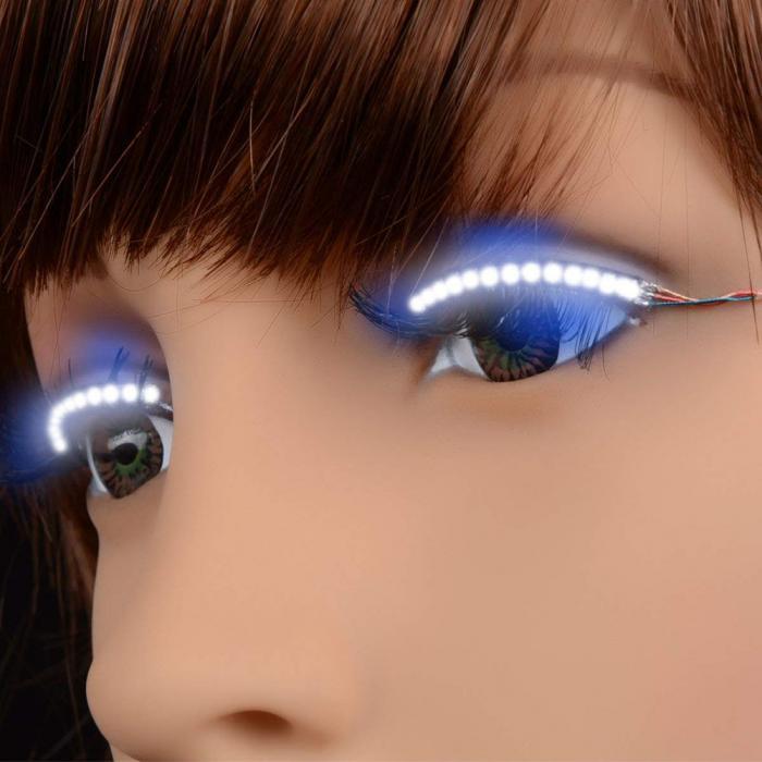 Beauty Essentials Led Eyelashes Waterproof Interactive Eyelash Shining Eyelid Tape For Party Nightclub Ktv Halloween Sswell False Eyelashes