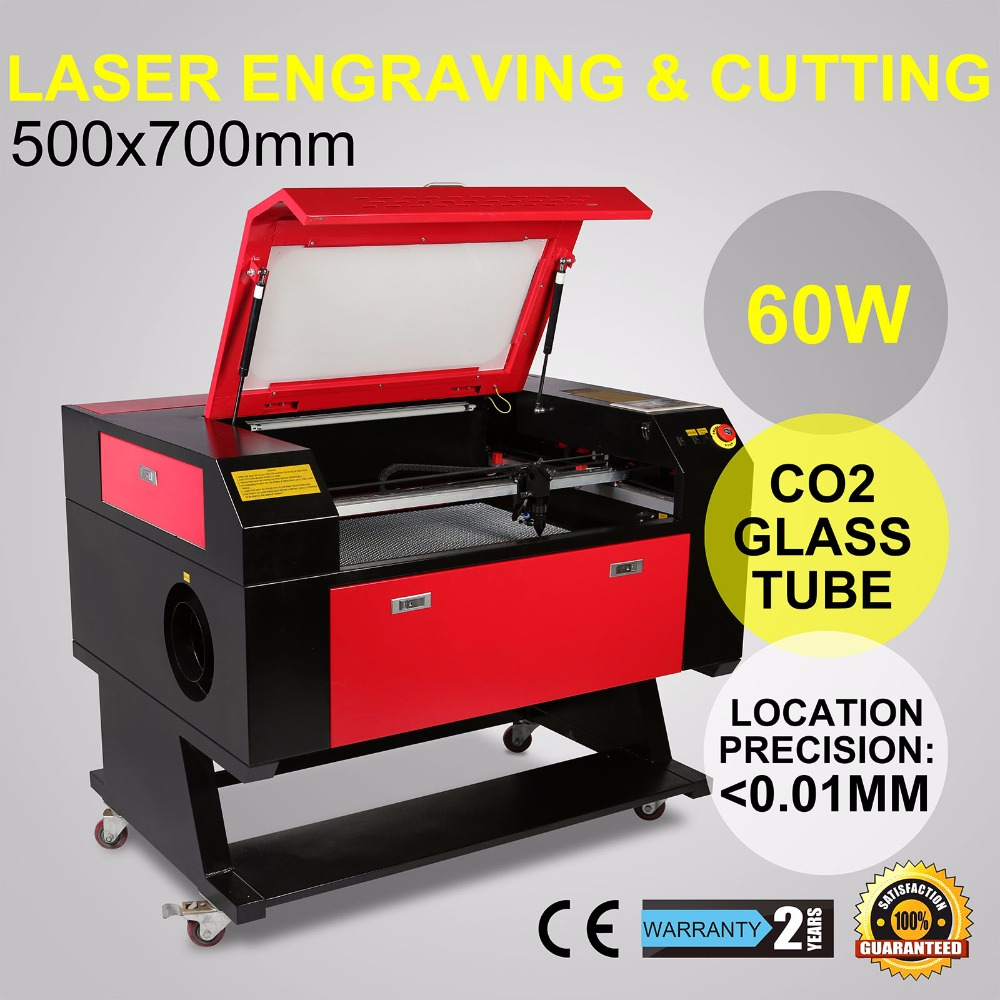 Новый Системы лазерный гравер/гравировка/резки с Цвет Экран 700*500 мм 60 Вт CO2 лазерной трубки с CE FDA