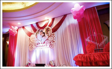 Wedding backdrop Wholesale 10ft*20ft stage decoration wedding supplies Backdrop with Detachable Swag