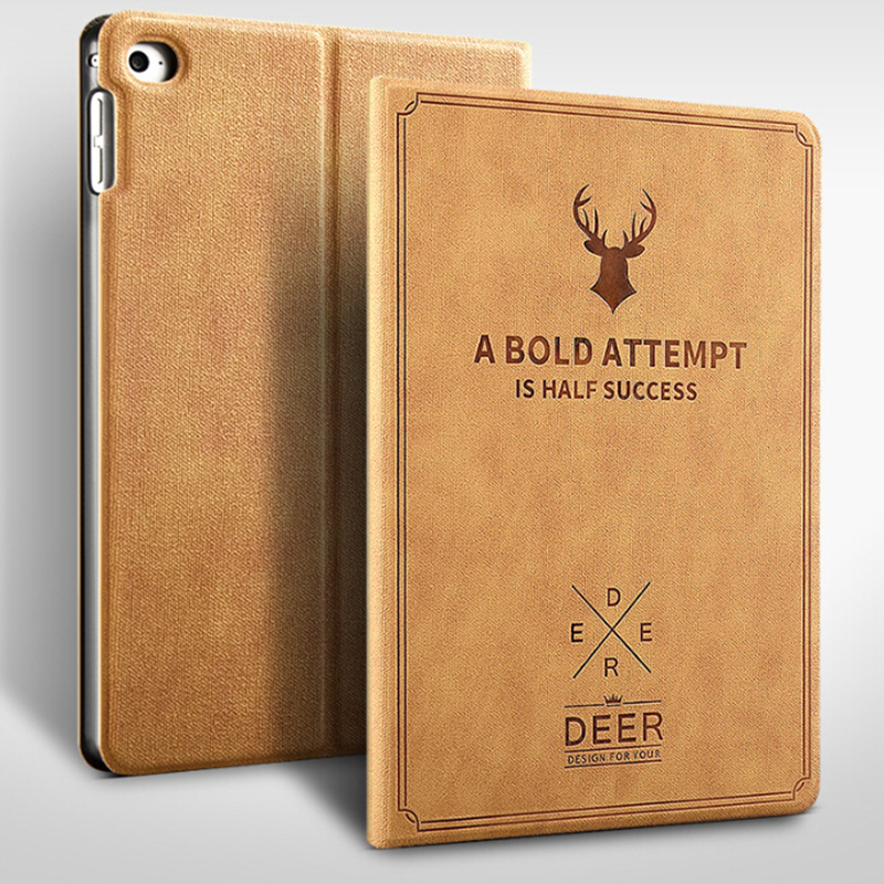 Nordic style Christmas Deer Case for iPad mini 1/2/3/4 Tablet Stand PU Leather Magnet Smart Cover Auto Sleep/Wake for iPad P15 image