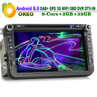 8-rdzeniowy Android 8.0 Radio Samochodowe GPS Bluetooth odtwarzacz CD do VW Passat CC Jetta EOS Car Multimedia Player 2 GB RAM 3G OBD DVR DTV-IN