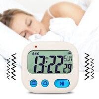 Estudante Viagem Relógio Despertador Digital LCD Kitchen Timer Contagem Regressiva Soneca Visão Completa Relógio de Mesa Despertador Loud 3 Alarme de Vibração