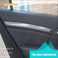 For Honda Civic 9 Th 2012 2013 2014 Interior Modified Carbon Fiber Modification Door Stripes Decorates
