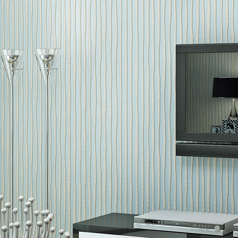 Modern Minimalist 3D Flocking Non-Woven Wallpaper Living Room Bedroom Study Restaurant Background Wall Paper Roll Home Decor 3 D  non woven flocking wallpaper modern 3d flower living room tv background home decor wall paper bedroom vertical striped wallpaper