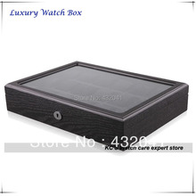Высокое качество 18 сетка вуд дисплей показать чехол Box хранения организатор держатель лучший рождественский подарок GC02-SP-18W