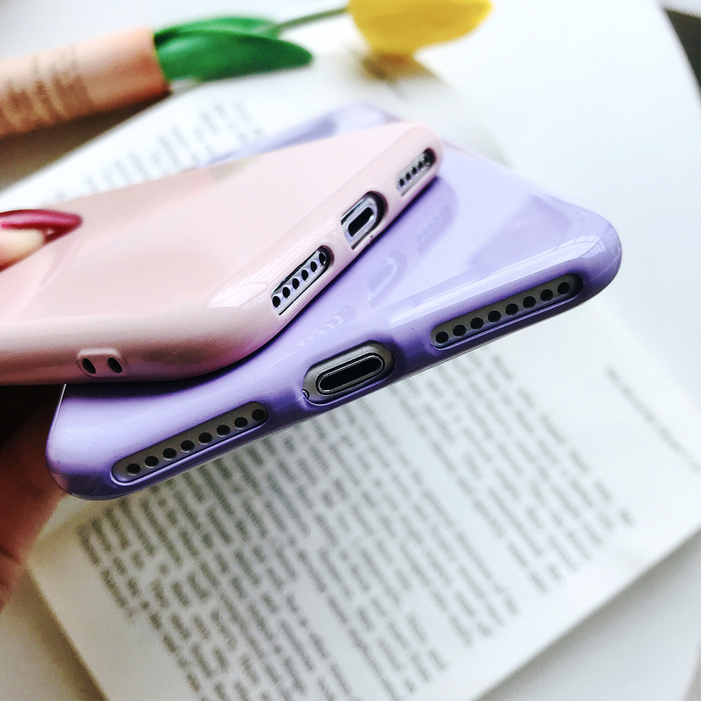 Ascromy For iPhone X Candy Color Case Luxury Soft TPU Cute Shockproof Cover Fundas For iPhone 8 Plus 7 6 6S 10 Coque Accessories (6)