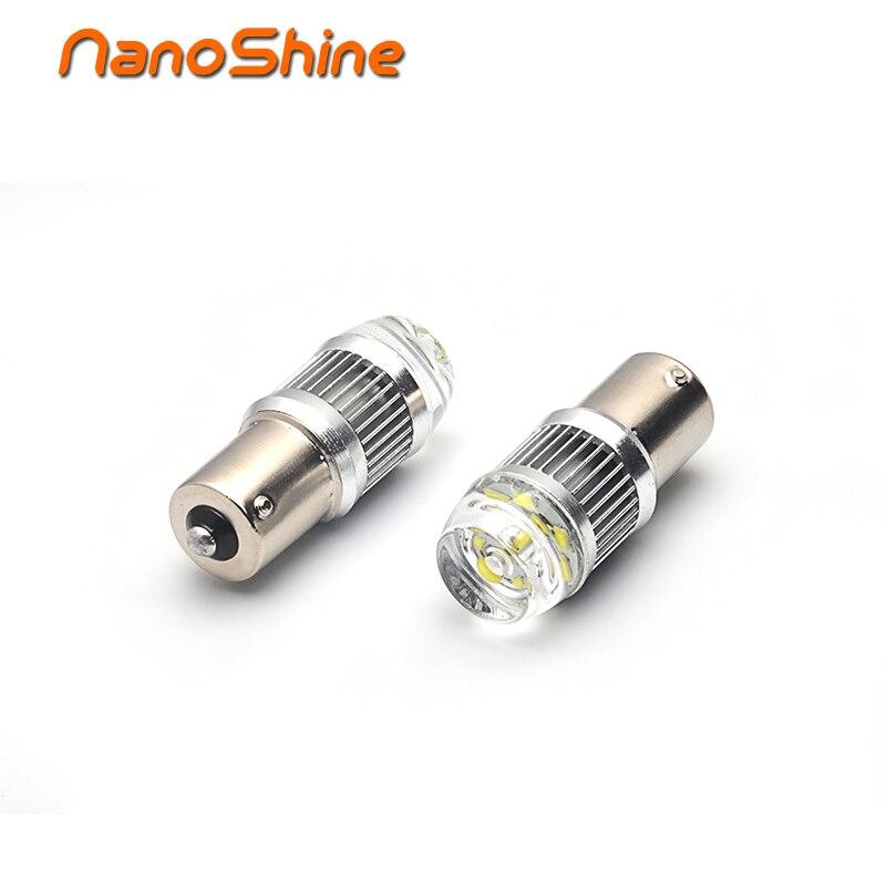 Nanoshine 2 pcs 1156 ba15s p21w LED car light 12V automobiles led bulb of turn signal light/parking light DRL red white yellow 5 pcs of p