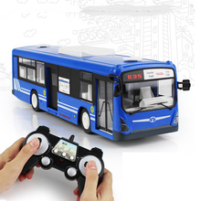 New RC Car 6 Channel 2.4G Remote Control Bus City Express High Speed One Key Start Function Bus with Realistic sound and Light sound city 2018 sunday