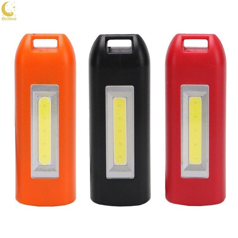 Ochine 3 Color Mini Multifunctional USB Charging LED Keychain  LED Lights  Black Red Orange