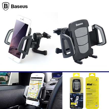 BASEUS Wind Series Universal mobile phone Car Holder stand 360 degrees Car Air Vent Phone Holder for iPhone for Samsung