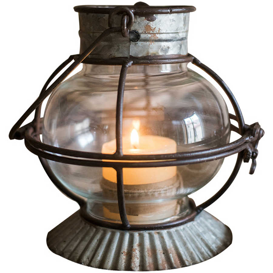 Metal Lantern Candle Holder Iron Decoration Candlestick Lighthouse Candle Container Fener Mumluk Glass Vintage Lantern 40KO217