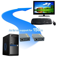 High Quality 500ft 20 60 KHz IR USB Over TCP IP KVM Extender 1080P USB HDMI