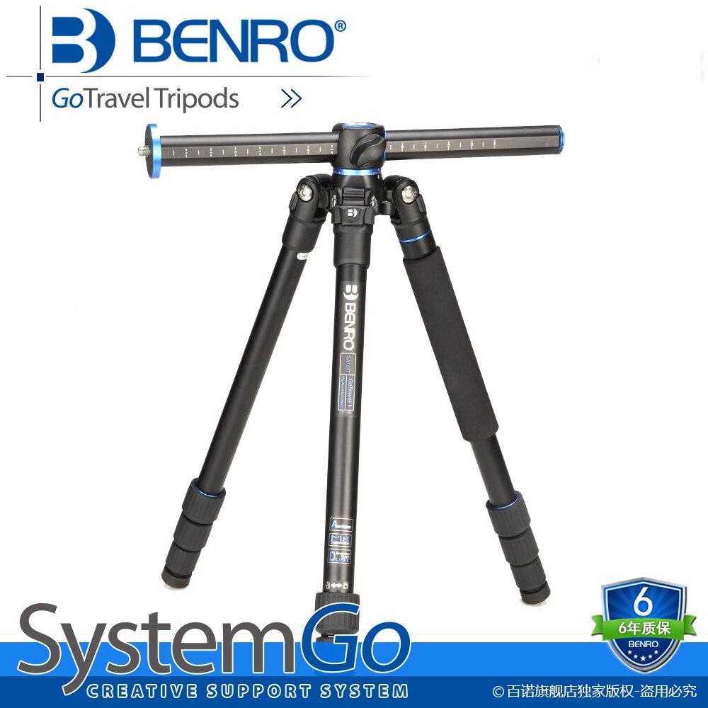 Benro GC158T trépied professionnel en Fiber de carbone appareil photo reflex trépied Stable support de photographie trépied Stable avec axe transversal