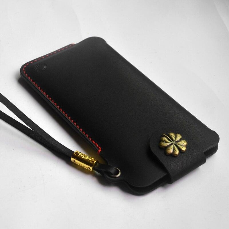 Fait à la main pour Samsung Galaxy S9 étui de téléphone portable en cuir pour Galaxy Note9 protection de téléphone étui en cuir véritable Note8 s8 S9 Plus