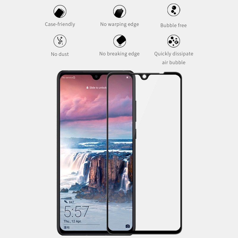 Image 3 - NILLKIN 3D CP+Max /XD/H/H+Pro Tempered Glass Screen Protector For Huawei P30 Glass 3D 2.5D Flat Edge Safety P30 Protective Film-in Phone Screen Protectors from Cellphones & Telecommunications on