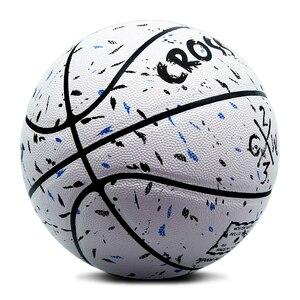 Image 2 - ホット販売新ブランド格安crossway L702バスケットボールボールpuマテリア公式Size7バスケットボール無料でネットバッグ + ニードル