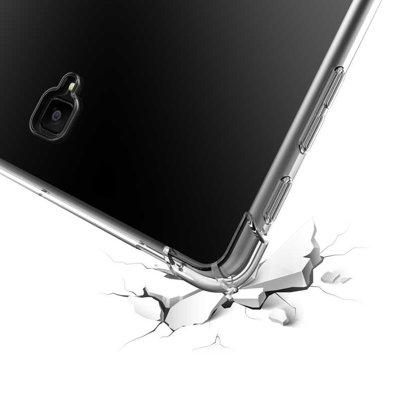 Silikon Soft Cover untuk Samsung Galaxy Tab, golp Transparan Lembut TPU Case untuk Samsung S4 S5E P200 T510 T720 T590 T830