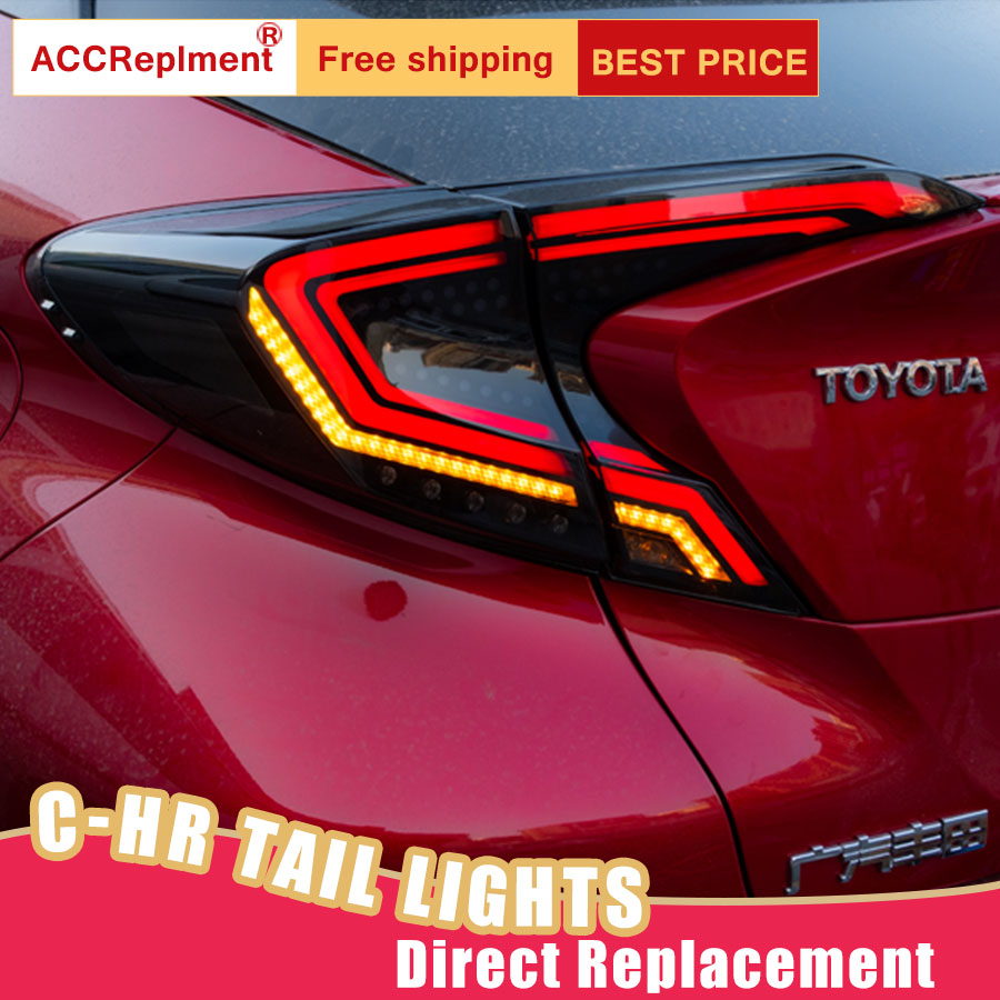 Car Styling LED Tail Lamp for Toyota C HR Tail Lights 2018 2019 for C HR