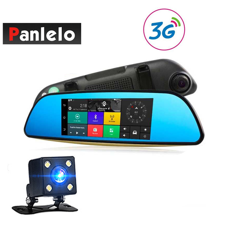 Panlelo 683 Car DVR 3G Wi-Fi Mirror 6.86 Dash Cam Full HD 1080P Video Recorder Camera Android 5.0 GPS Navi Rearview Mirror Cam gps navigator mirror car video recorder with bluetooth full hd resolution wifi camera automobile dvr rearview mirror dash cam