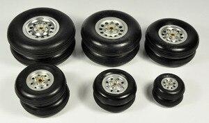 """Image 4 - 1 pz gomma ruota con mozzo in alluminio per rc modello di aereo e diy pneumatici robot 1.75 """" 4.5"""""""