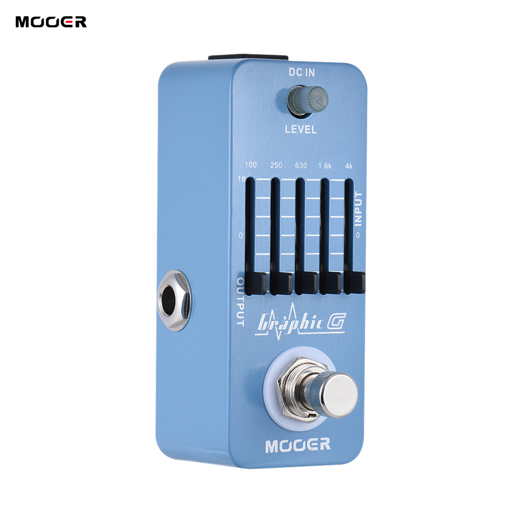 MOOER Graphic G Guitar Pedal Mini Equalizer Guitar Effect Pedal 5 Band EQ True Bypass Full