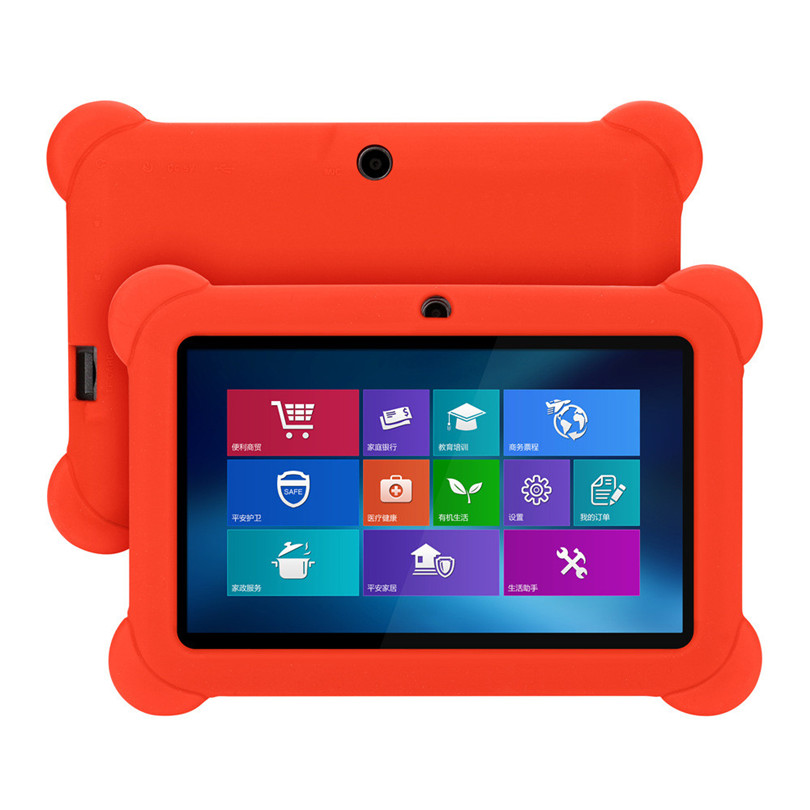 7inch Universal Silicone Anti-dirts Gel Protective Back Case Cover For 7 Inch Android Tablet PC Q88  A20