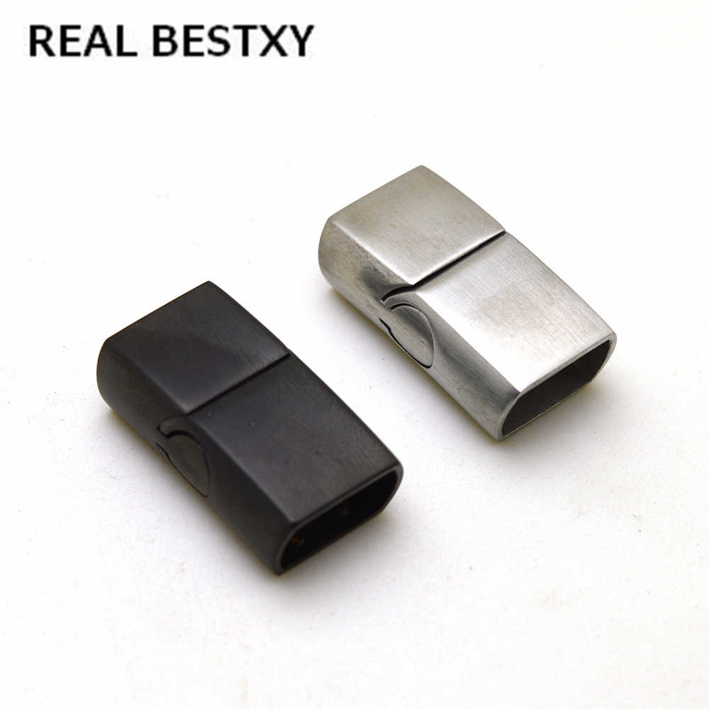 REAL BESTXY  Custom Logo 5pc/lot HOLE SIZE: 11.2mm*6.4mm Buckle Magnet Hook Jewelry Findings Leather Bracelet Magnetic Clasp DIY