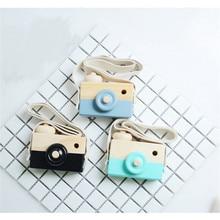 Прекрасный ручной работы деревянные игрушки для детей кулон фотокамера игрушка комната креативный дисплей фотографии декоративный дисплей Горячая