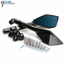 Moto motorcycle mirrors Side rearview mirrors For Yamaha YZF R6 R3 R1 FZ6 MT09 MT07 XJR 1300 2002 2003 2004 2005 2006 2007 2009