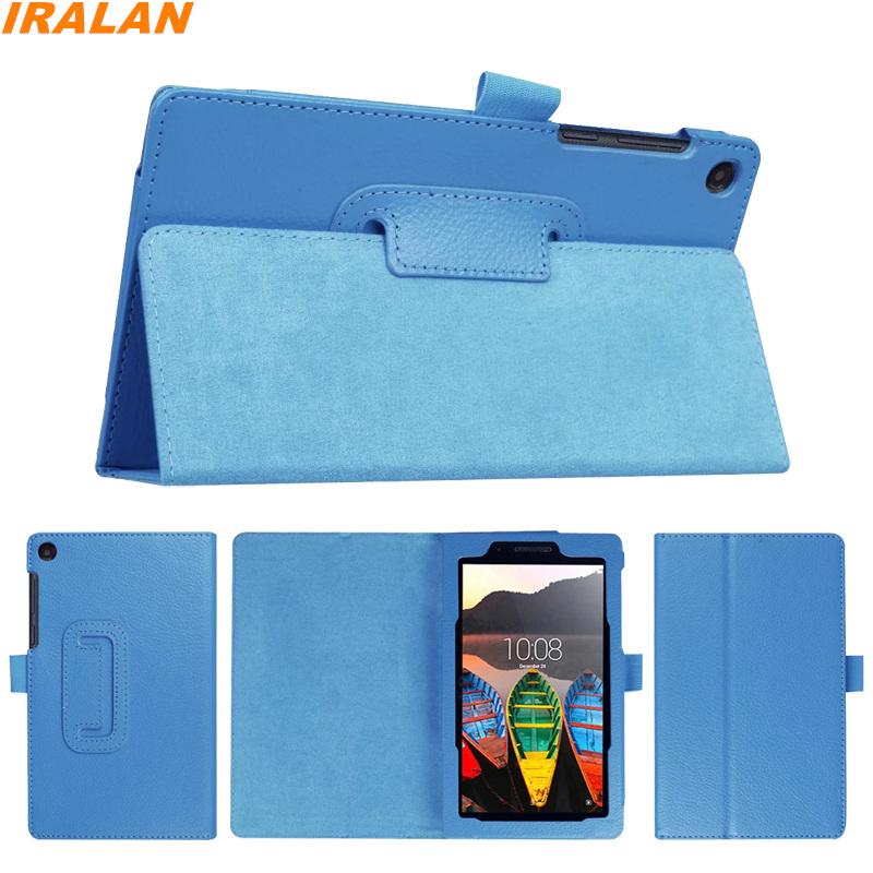 Litchi PU Leather Folio Case For Lenovo Tab 3 7 Essential 710F 710I Stand Protective Cover For Lenovo Tab3-710F 7.0 inch +stylus