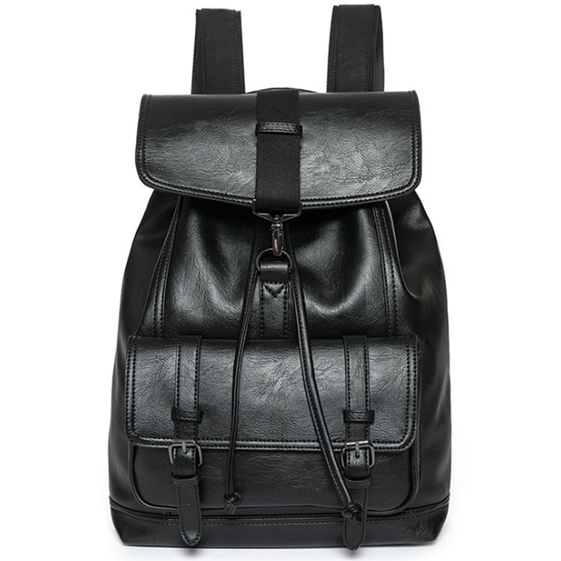 LEVELIVE Casual Male Leather Backpack Men Fashion Travel Bagpack School Bag High Quality Men's Shoulder Bag Famous Brand Backbag high quality authentic famous polo golf double clothing bag men travel golf shoes bag custom handbag large capacity45 26 34 cm