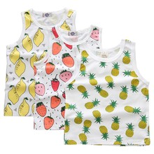 Baby Boys Summer Fashion T Shirts Tank Friut Printed Boys Girls Tee Vest