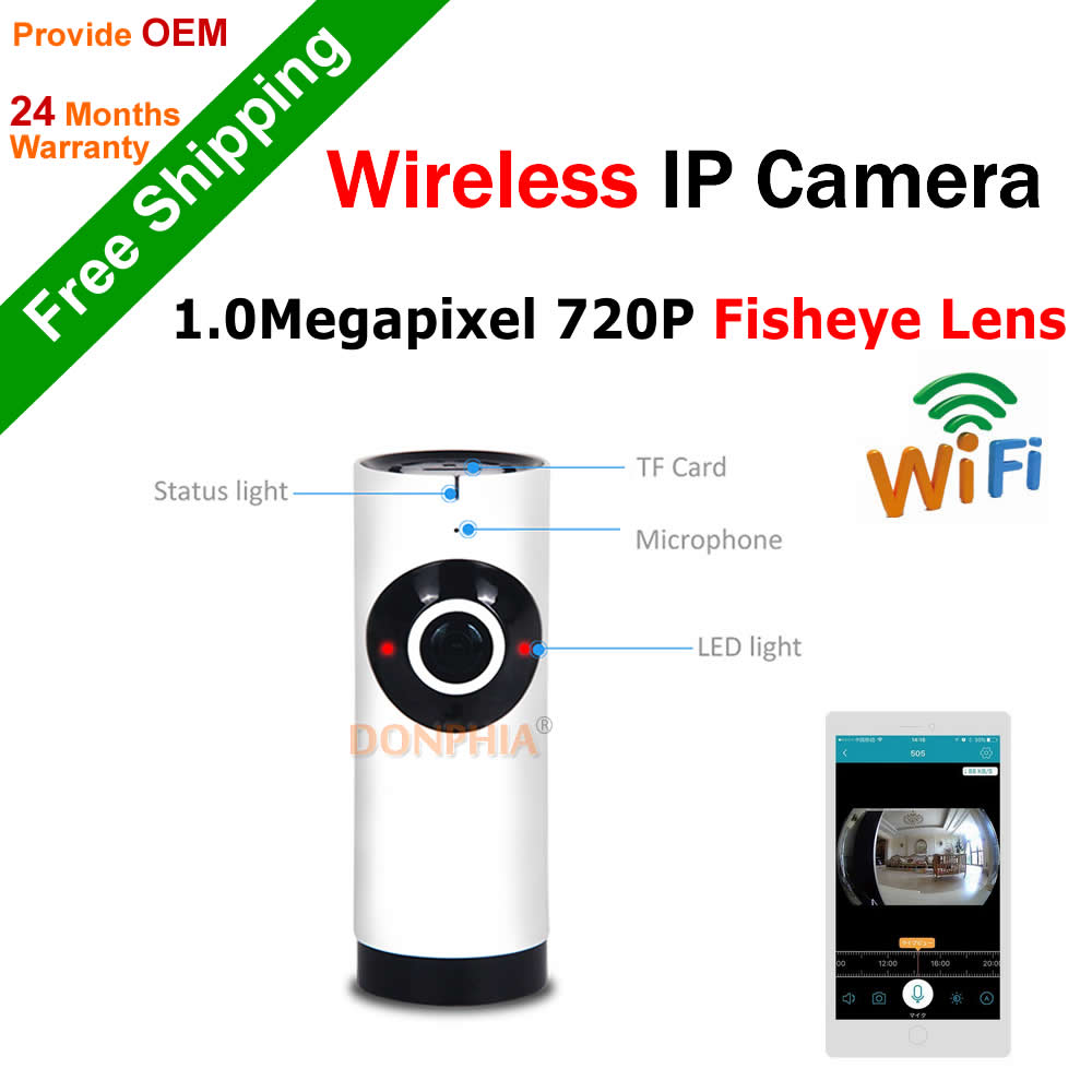 ФОТО Supper Mini IP Camera 720P Wireless Baby monitor two way audio Remote view 1.0MP Onvif CCTV Wifi Camera 180 degree ir night view