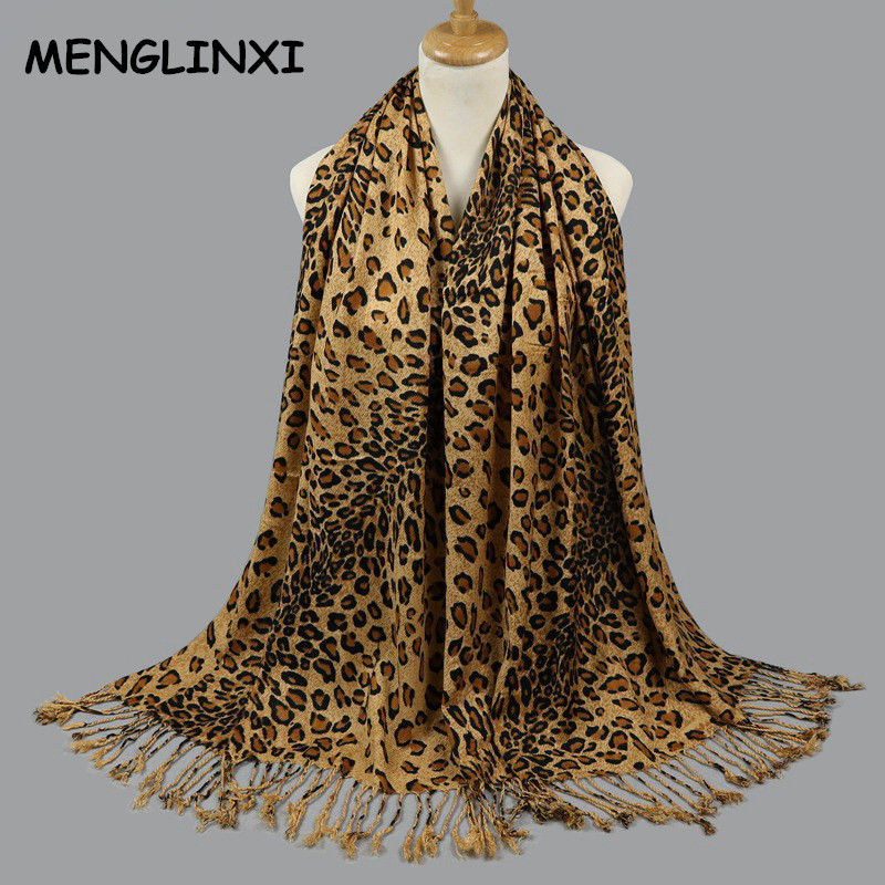 Leopard Print   Scarf     Wraps   For Women 2017 New Fashion Winter Echarpes Femme   Scarves   Brand Shawl Women's Pashmina Cachecol