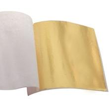 100PCS Taiwan shiny Imitation gold leaf, gilding color like 24k free shipping