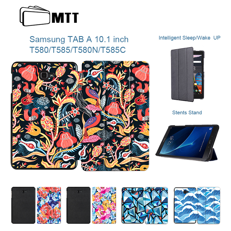 MTT Fashion For Samsung Galaxy Tab A 10.1 A6 T580N T585C Trifold Smart Stand Tablet Case for Galaxy Tab A 10.1 SM-T580 SM-T585