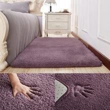 e68428864 بسيطة الحديثة رشاقته الضأن المخملية البساط السرير غرفة نوم لينة السجاد  لغرفة المعيشة ديكور السجاد يمكن
