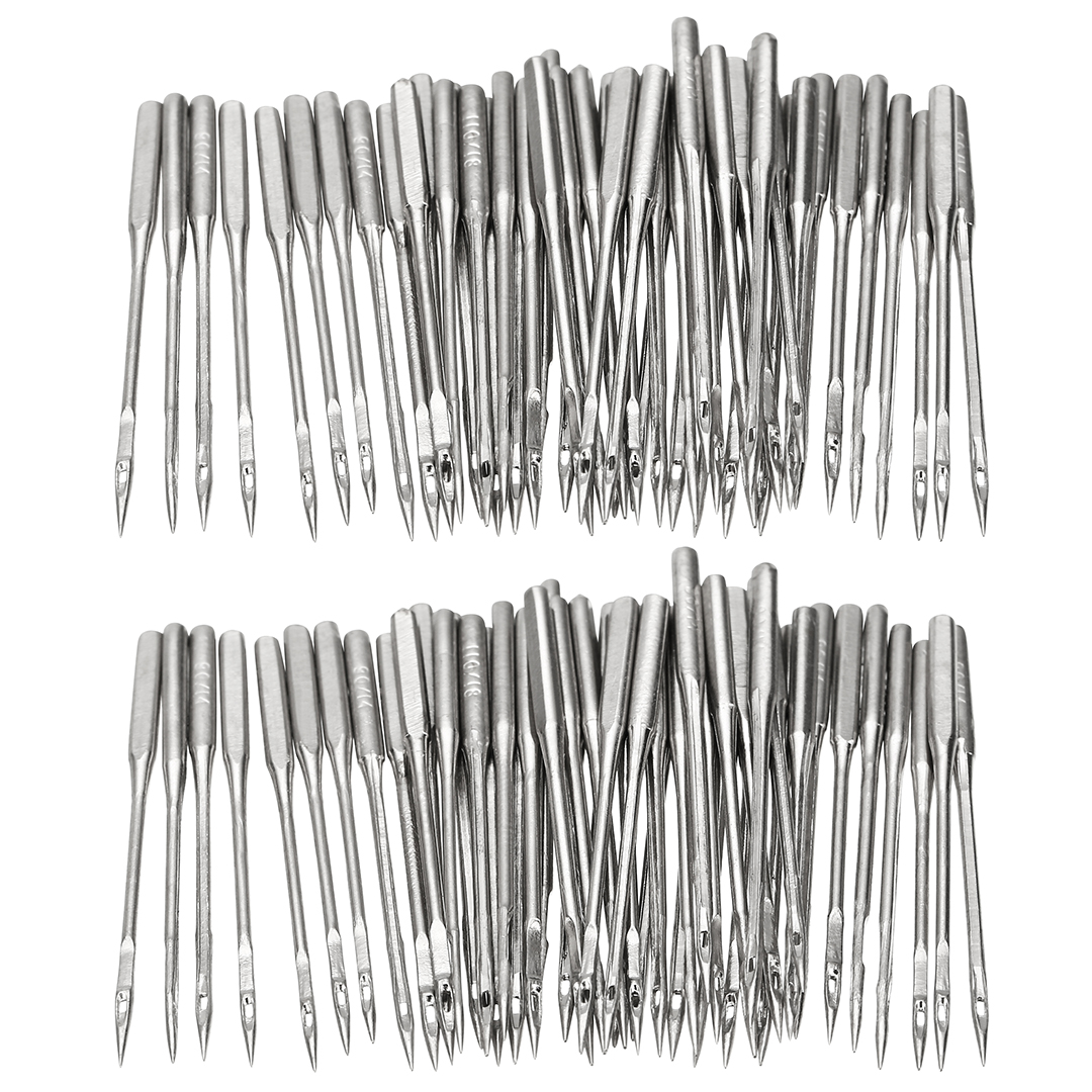 50pcs Home Sewing Needles Assorted Kits Sewing Machine Needles Universal Fitting 130/705H HAx1 or 15x1 Type Most Sewing Machines