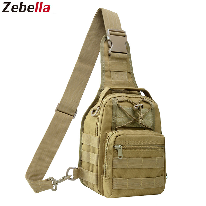 Zebella Men Women Military Bag Tactical Chest Bags Unisex Fashion Camouflage HandBags Cool Camping Hiking Travel Shoulder Bags