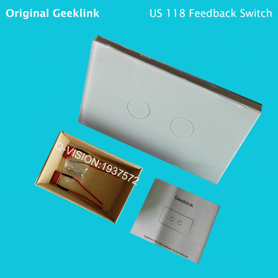 Geeklink US  New Arrival1 2 3 Gang Smart Home Feedback Switches RF Touch Light P