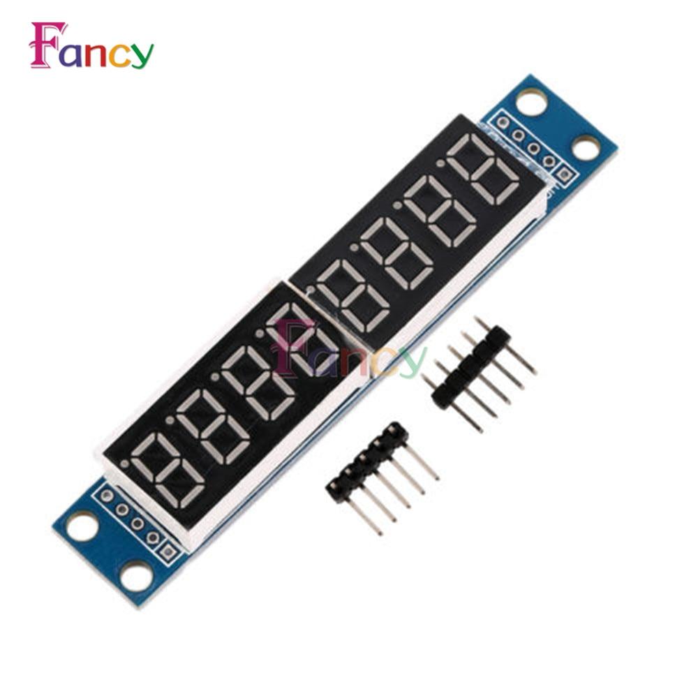 MAX7219 LED Dot Matrix 8 Digit 7-segment Digital Tube Display Control Module For Arduino 3.3V 5V Microcontroller Serial Driver
