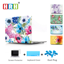1PC Newest Peony Flower Laptop Body Shell Protective Hard Case for Apple Macbook Air 11 13 / Pro 15 Retina 12