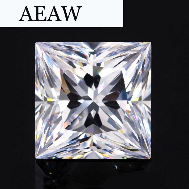AEAW 1 карат 5,5 мм * 5,5 мм F Цвет Принцесса cut Муассанит Алмазная свободные камень Тесты положительный как реальные diamond