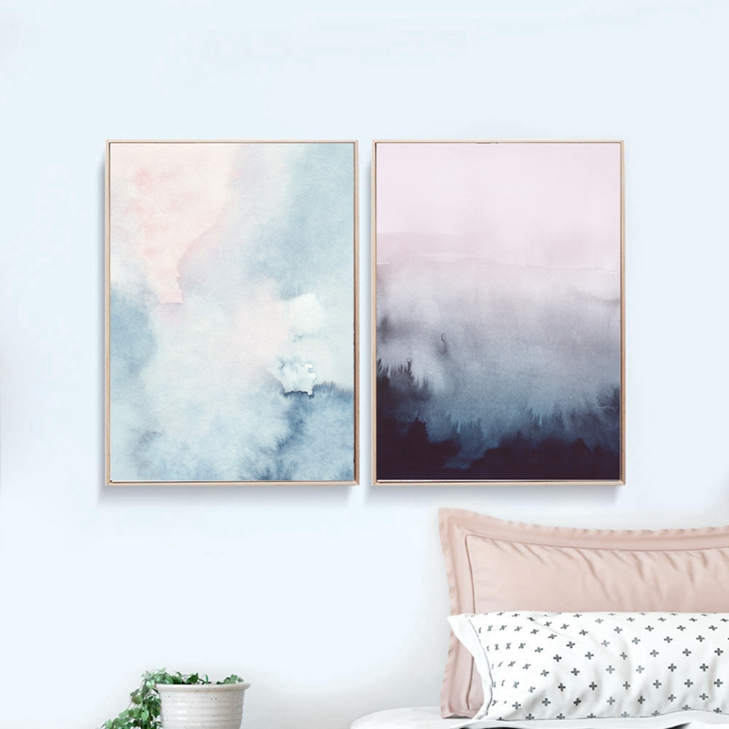 Abstract Art Canvas Painting Modern Wall Picture , Watercolor Pastel Art Canvas Prints and Poster Home Wall Art Decor wieco art modern 100