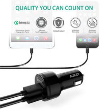Qualcomm Quick Charger 3.0 9V 12V 2 Port Mini USB Car Charger for iPhone X 8 7 6s Samsung