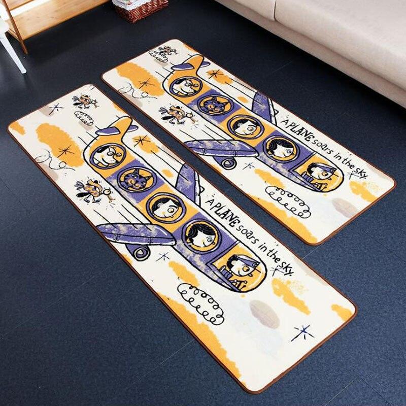Bienvenue tapis de sol un avion de voyage imprimé salle de bain tapis de cuisine paillassons tapis de sol pour salon Tapete anti-dérapant